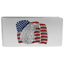 Siskiyou Buckle MC7 Sculpted Moneyclip - American Flag with Eagle Head
