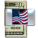Siskiyou Buckle MCL24 Large Money Clip - American Flag