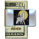 Siskiyou Buckle MCL25 Large Money Clip - Howling Wolf