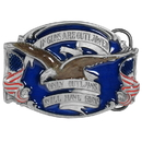 Siskiyou Buckle N8E If Only Guns Are Outlawed... Enameled Belt Buckle