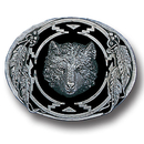 Siskiyou Buckle N9D Wolf (Diamond Cut) Enameled Belt Buckle