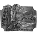 Siskiyou Buckle P35 Washington Antiqued Belt Buckle