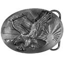 Siskiyou Buckle P40 Eagle & Sun Antiqued Belt Buckle