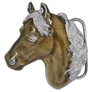 Siskiyou Buckle P7E Free Form Horse Head Enameled Belt Buckle