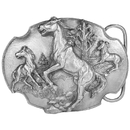 Siskiyou Buckle Wild Horses Antiqued Belt Buckle, P80