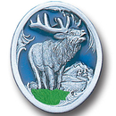 Siskiyou Buckle PN2168E Collector Pin - Elk with Scroll