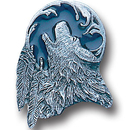 Siskiyou Buckle PN3005E Collector Pin - Wolf Head and Feather
