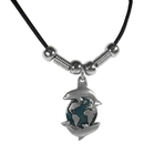 Siskiyou Buckle PT9S Earth Spirit Necklace - Dolphins & Earth