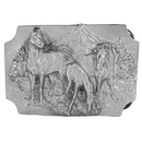 Siskiyou Buckle Horses Antiqued Belt Buckle, Q85