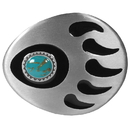 Siskiyou Buckle Q9E Grizzly Claw & Stone - Enameled Belt Buckle