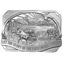Siskiyou Buckle Glory of the Lord Antiqued Belt Buckle, R27