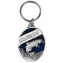 Siskiyou Buckle Yellowstone Trout Metal Key Chain with Enameled Details, RK106E