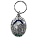 Siskiyou Buckle RK304E Key Ring - Colorado Bison
