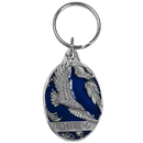 Siskiyou Buckle Wyoming Eagle Metal Key Chain with Enameled Details, RK309E