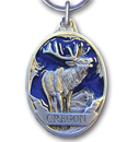 Siskiyou Buckle RK318E Key Ring - Oregon Elk Blue