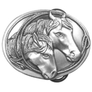 Siskiyou Buckle Horse Antiqued Belt Buckle, S15