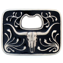 Siskiyou Buckle S259E Buffalo Skull Bottle Opener Belt Buckle