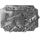 Siskiyou Buckle S35 Michigan Antiqued Belt Buckle