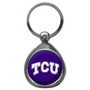 Siskiyou Buckle SCK112C TCU Horned Frogs Chrome Key Chain