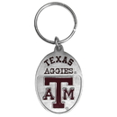 Siskiyou Buckle SCK26 Texas A & M Aggies Carved Metal Key Chain