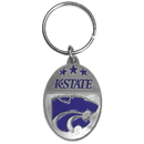 Siskiyou Buckle SCK32 Kansas St. Wildcats Carved Metal Key Chain