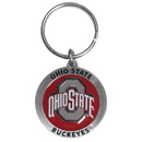 Siskiyou Buckle SCK38 Ohio St. Buckeyes Carved Metal Key Chain