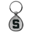 Siskiyou Buckle SCK41C Michigan St. Spartans Chrome Key Chain