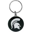 Siskiyou Buckle SCK41 Michigan St. Spartans Carved Metal Key Chain
