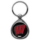 Siskiyou Buckle SCK51C Wisconsin Badgers Chrome Key Chain