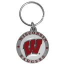 Siskiyou Buckle SCK51 Wisconsin Badgers Carved Metal Key Chain