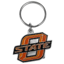 Siskiyou Buckle SCK58 Oklahoma State Cowboys Carved Metal Key Chain