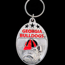 Siskiyou Buckle SCK5 Georgia Bulldogs Carved Metal Key Chain
