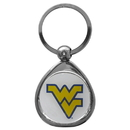 Siskiyou Buckle SCK60C W. Virginia Mountaineers Chrome Key Chain