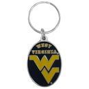 Siskiyou Buckle SCK60 W. Virginia Mountaineers Carved Metal Key Chain