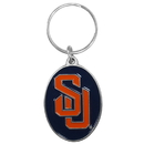 Siskiyou Buckle SCK62 Syracuse Orange Carved Metal Key Chain