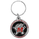 Siskiyou Buckle SCK64 Maryland Terrapins Carved Metal Key Chain