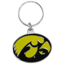 Siskiyou Buckle SCK65 Iowa Hawkeyes Carved Metal Key Chain