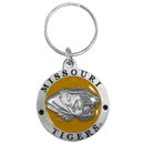 Siskiyou Buckle SCK67 Missouri Tigers Carved Metal Key Chain
