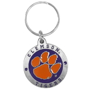 Siskiyou Buckle SCK69 Clemson Tigers Carved Metal Key Chain
