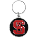 Siskiyou Buckle SCK79 N. Carolina St. Wolfpack Carved Metal Key Chain