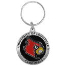 Siskiyou Buckle SCK88 Louisville Cardinals Carved Metal Key Chain