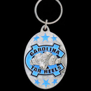 Siskiyou Buckle SCK9 N. Carolina Tar Heels Carved Metal Key Chain