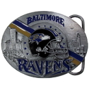Siskiyou Buckle SFB180 Baltimore Ravens Team Belt Buckle