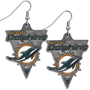 Siskiyou Buckle SFE061 Miami Dolphins Classic Dangle Earrings
