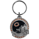 Siskiyou Buckle SFK005 Chicago Bears Carved Metal Key Chain