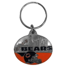 Siskiyou Buckle SFK006 Chicago Bears Oval Carved Metal Key Chain