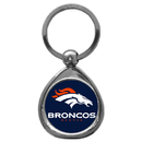 Siskiyou Buckle SFK020C Denver Broncos Chrome Key Chain