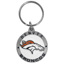 Siskiyou Buckle SFK020Z Denver Broncos Carved Metal Key Chain