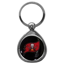 Siskiyou Buckle SFK030C Tampa Bay Buccaneers Chrome Key Chain