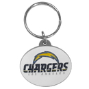 Siskiyou Buckle SFK041 San Diego Chargers Oval Carved Metal Key Chain